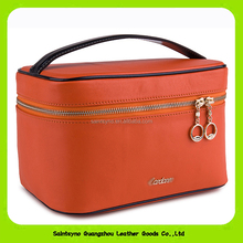 14018 Makeup Train Leather Case Cosmetic Bag Travel Storage Case Small Make up Bag