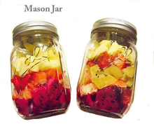 Mason cup fruits and vegetables salad jam jars tin honey bottle drink beer glass mason cup