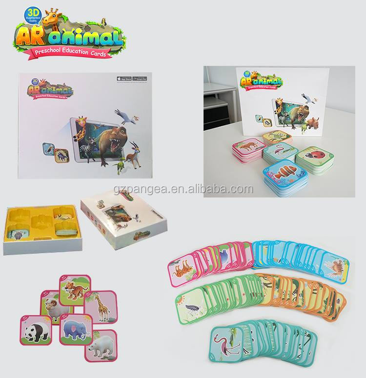 2018 New cheaper AR card for kids preschool early learning magic flash card