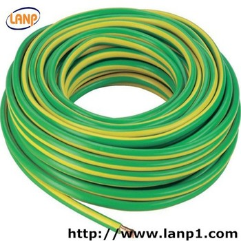 Single Core Copper Wire Yellow Green 16mm Grounding Cable - Buy ...