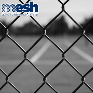 Factory Sales Wholesale Used Black Chain Link Fence For Sale