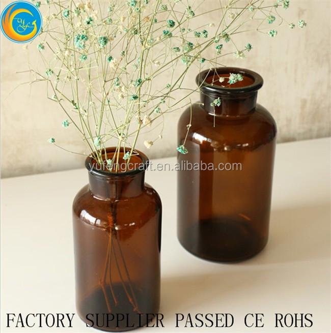 6 wedding jars glass centrepiece vase tealight rustic hand printed mixed design