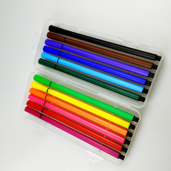 plastic box pack fine liner pen set, colored sign fineliner marker