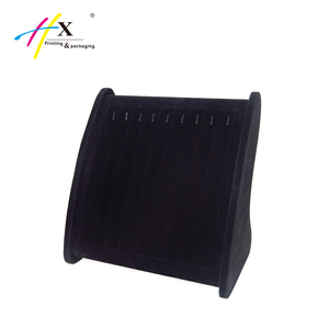 Huaxin factory direct customized necklace display stand, bracelet velvet display