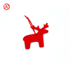 2017 Red Reindeer design Felt Christmas Tree Decorations