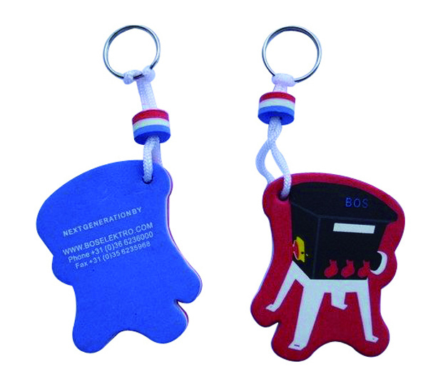 OEM Custom Foam eva key chain, eva floating keychains, float key chain