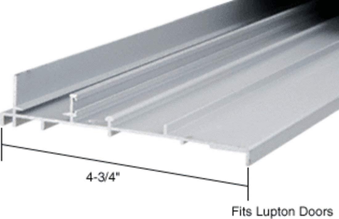 """CRL Aluminum OEM Replacement Patio Door Threshold for Lupton Doors; 4-3/4"""" Wide x 8 ft Long"""