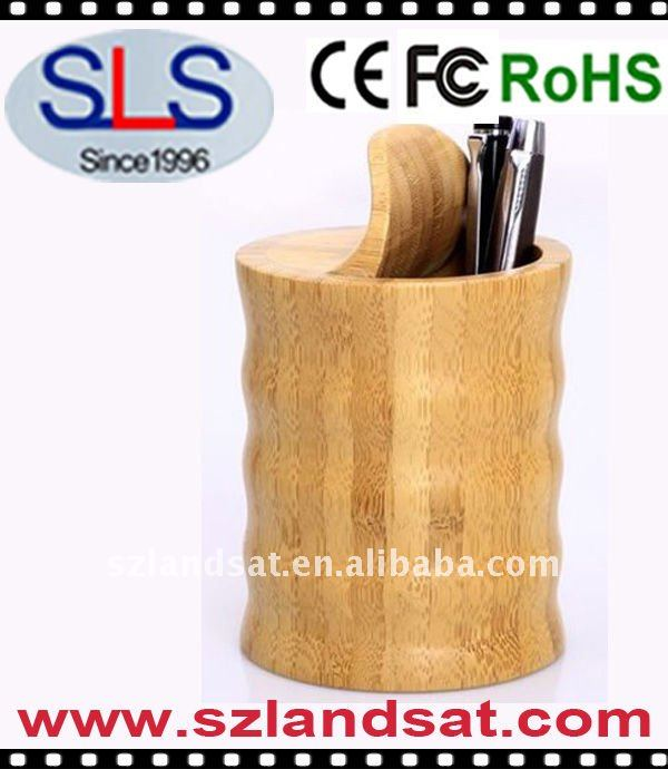 Curved Bamboo Pen Holder/Stand SLS-BT02