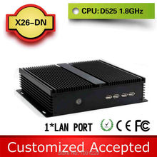 Promotional price !!! Various Colors!!! family computer htpc fanless mini pcs X26-DN D525 1.8G 4G ram 500G HDD support Speakers