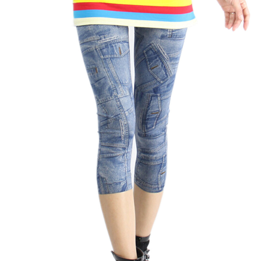 9af809fc15f01d Get Quotations · free shipping 2015 new arrival fashion sexy plus size  black blue jeggings stretch women short faux