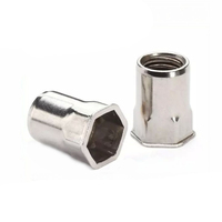 High quality stainless steel 304 316 Knurled flat head rivet nut