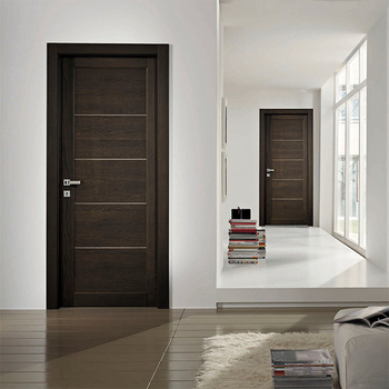 Luxury Design Apartment Fire Rated Door Solid Wooden Proof For Room