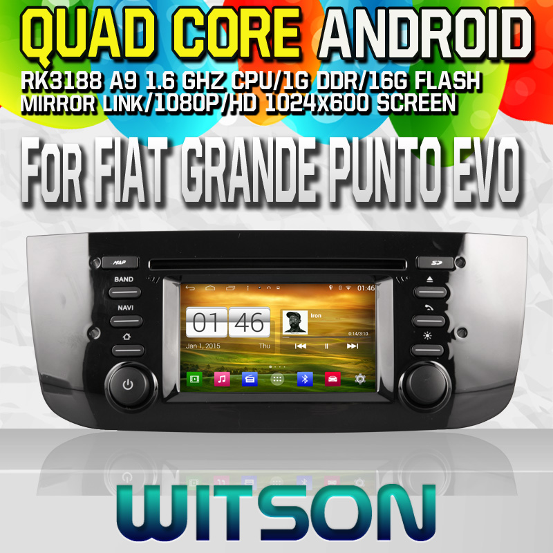 Witson S160 Android 4.4 Car DVD GPS For FIAT GRANDE PUNTO EVO 2009-2012 with Quad Core Rockchip 3188 1080P 16g ROM WiFi 3G