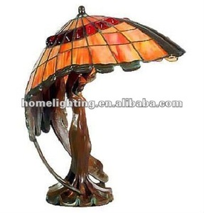 JL131 tiffany bronze lady sculpture lamps decorative indoor desk beside energy saving lighting