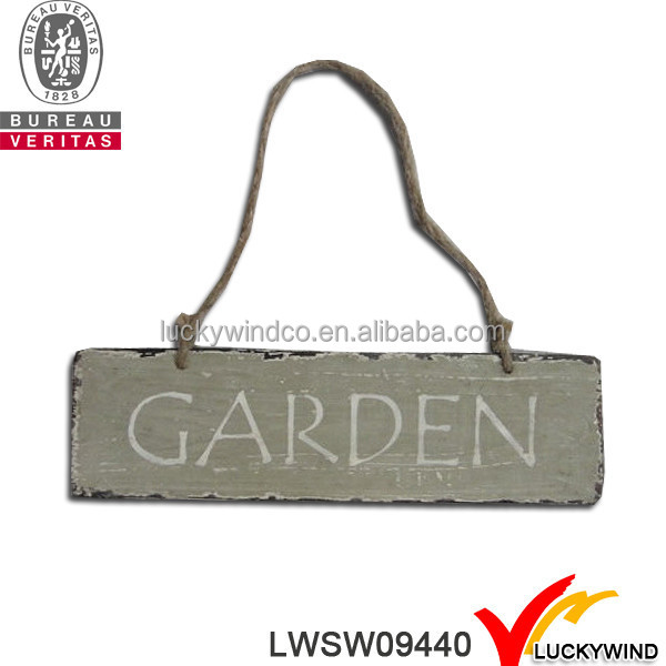 Wooden Vintage Hanging Garden Signs