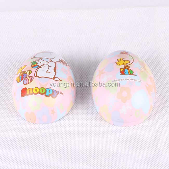 professional manufacture high quality CMYK printing easter egg metal gift tin box