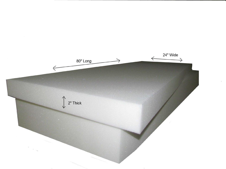 "(Ship from USA) Foam Cushion (3pc) 2""x24""x80"" (1536) Medium Firm (Sofa,Campers,Boats,RVs & Mats) /ITEM#H3NG UE-EW23D260416"