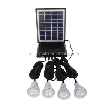 Plug And Play Solar Home System For Mobile And Led Light