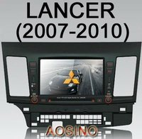 aosin 7 inch 7'' 2 din two din special MITSUBISHI LANSER 2007-2010 Car DVD PLAYER with GPS Navigation map car radio audio 3D UI