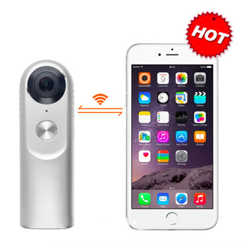 2017 newest model 360 Dual Lens 720 degree VR Panorama camera 4K with accessories wifi camera by App