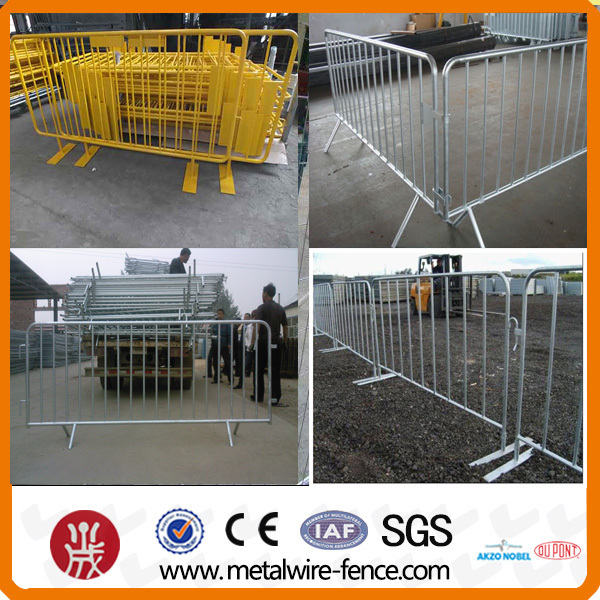 Portable Galvanized Steel Traffic Crowd Control Barrier for Road Safety