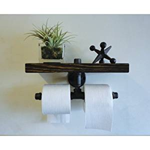Lightinthebox American Retro Industrial Pipe Racks Bathroom Rack Bathroom Towel Rack Shelf Wood Decorative Wall Shelf-Z25
