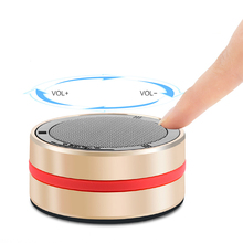 Karaoke Player Aluminum alloy Material Portable Mini Cheap Outdoor Wireless Loudspeaker Mobile Phone Blue-tooth Round Speaker