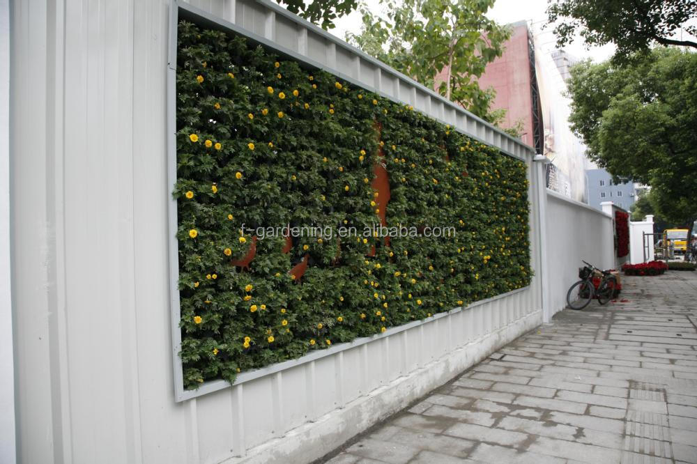 Captivating Green Wall Panel And Vertical Garden Pots For Green Wall System