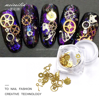 Popular Japan Punk Parts Style Nail Studs 3d Watch Nail Art Design