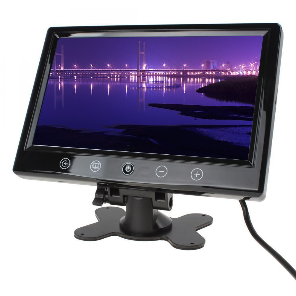 Car Overhead Unit Monitor 9 Inch TFT LCD High-resolution Touchscreen IR Remote Control Full Color LED Backlight Display
