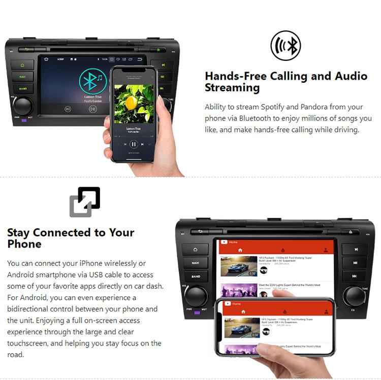 Eonon Ga9151b For Mazda 3 2004 2005 2006 2007 2008 2009 Android 8 0  Octa-core 7 Inch Multimedia Car Gps - Buy Android 8 0 Octa-core,Car