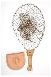 Handy Pak Net - Vintage Series Teak Wood / Leather Pouch (HPJN-30 Deep Knotted Netting)
