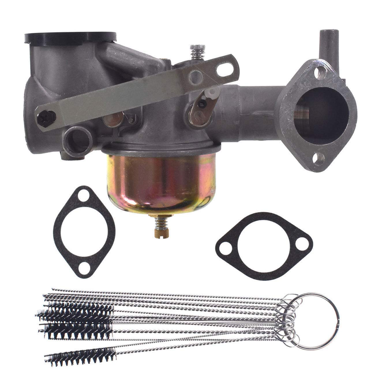 Euros Carburetor with Cleaning Tool for Briggs & Stratton 390811 392152 491590 Lawnmower