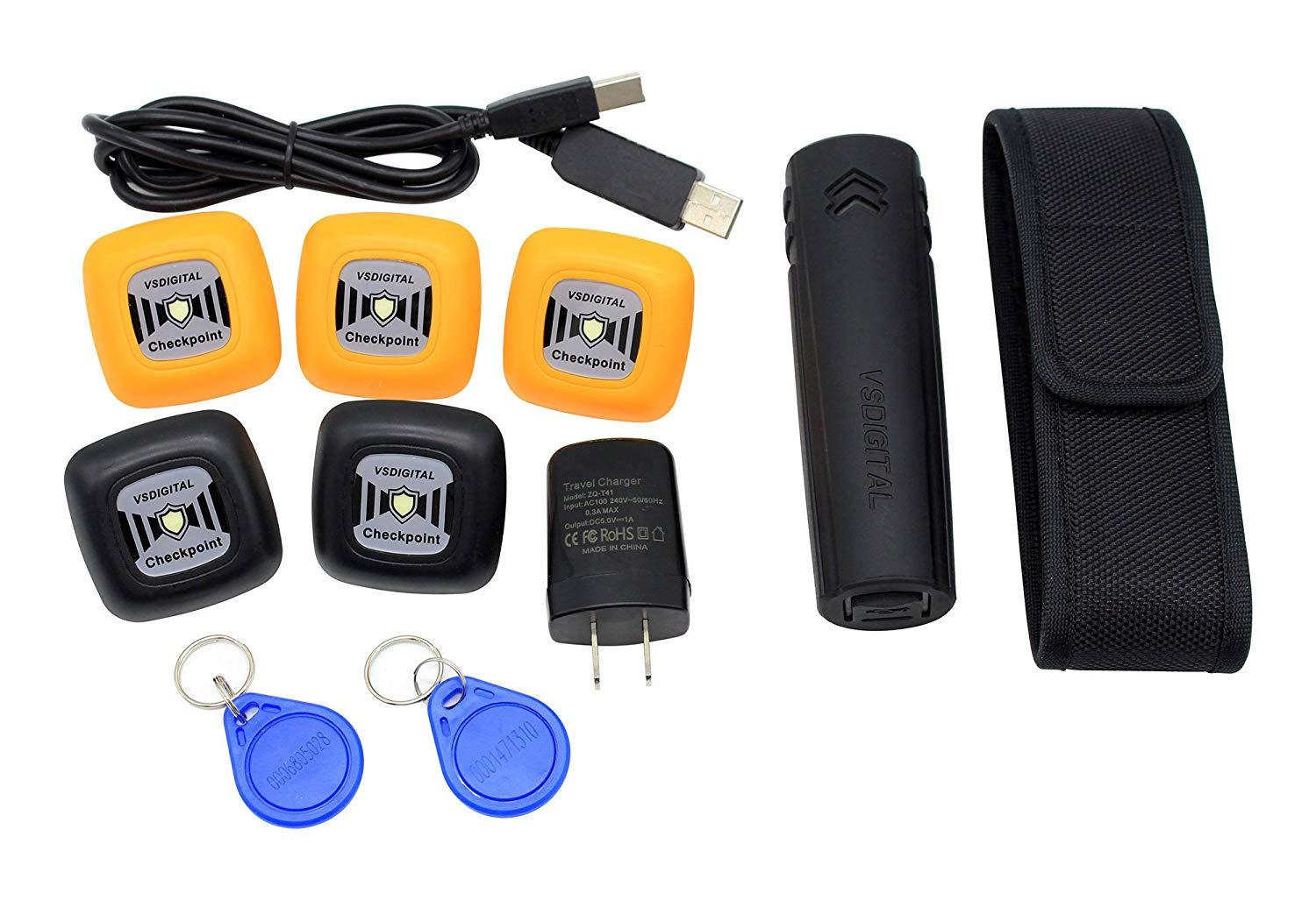 Landcard Guard Tour Patrol System RFID Inductive Security Guard Tour Patrol Monitor with Checkpoint Tag