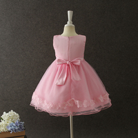 Kids party wear dresses for girls baby pink summer dress wholesale new arrival popular boutique dress for toddler girls
