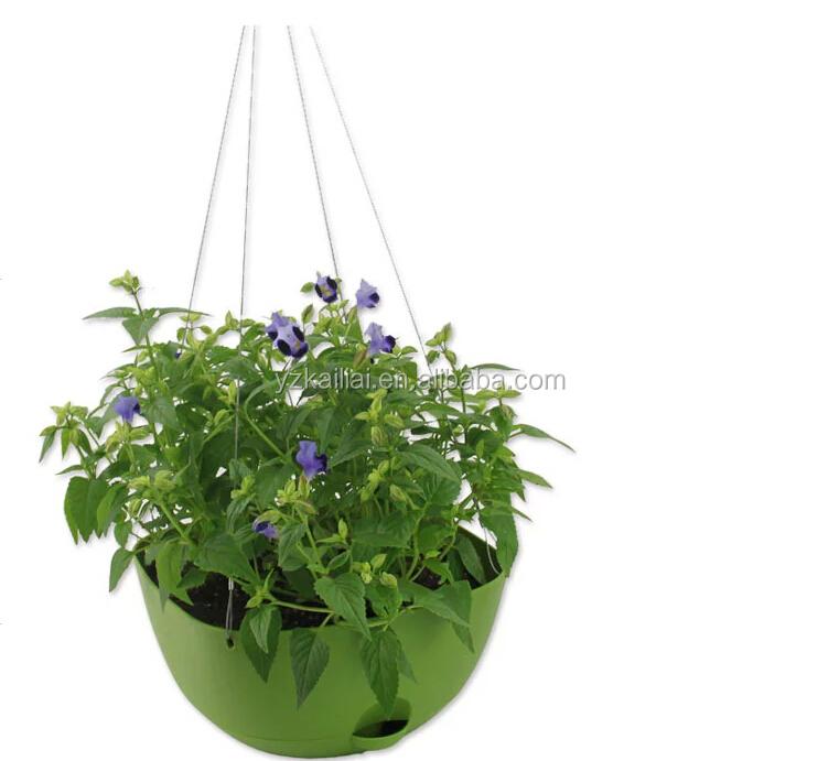 en plastique suspendus panier suspendu pot de fleur avec. Black Bedroom Furniture Sets. Home Design Ideas
