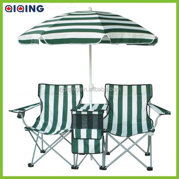 2 Person Beach Chair With Umbrella And Table For Camping Hq 1001a 71