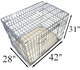 Sloping metal Folding Dog Crate pet cage with metal tray for car