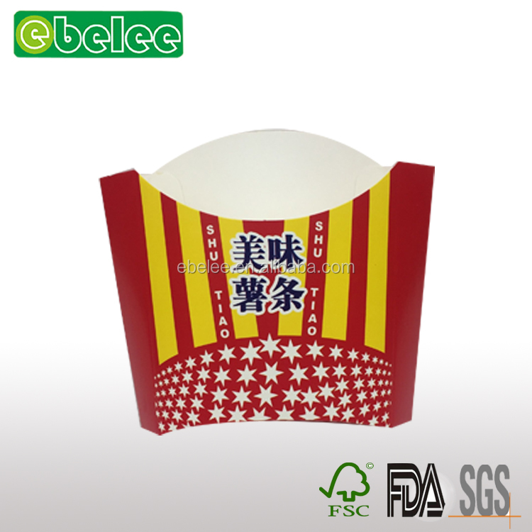 Chips french fries boxes,doner box&snack packaging; recycling paper