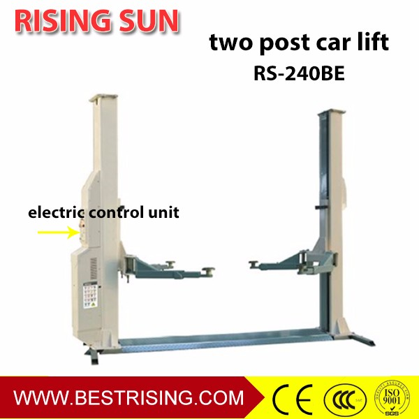 Two post car lift for sale used 14
