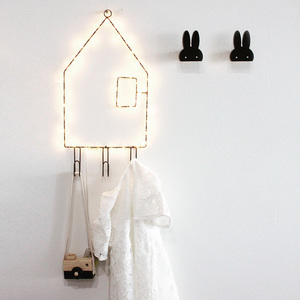 Home decor LED string light small house wall hanging decoration