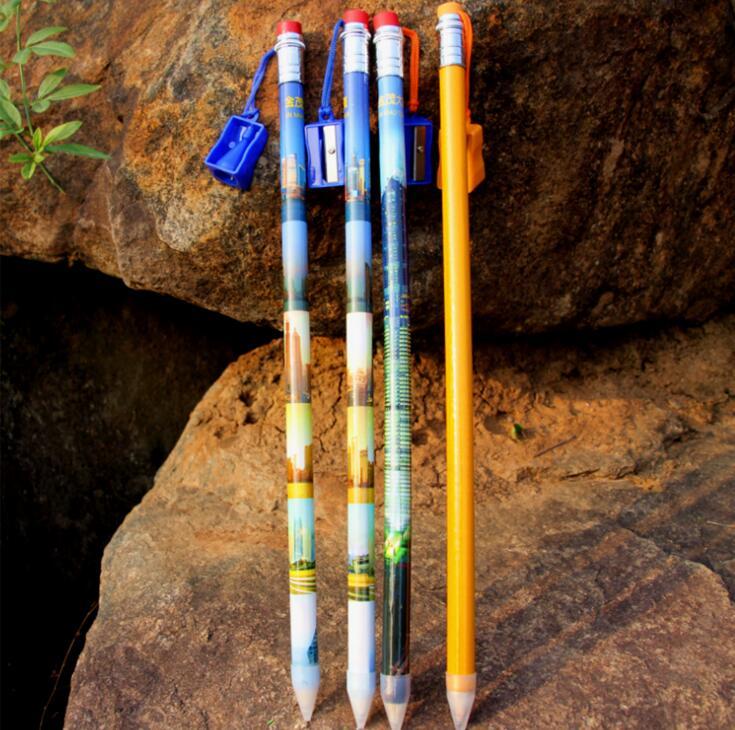 Слон карандаш, деревянный материал с точилка для продвижения
