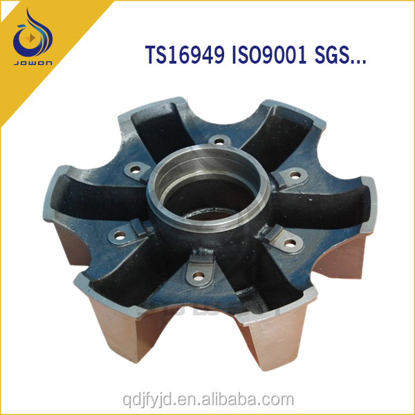 Sand ductile iron casting car front hub wheel assembly QT450 QT500