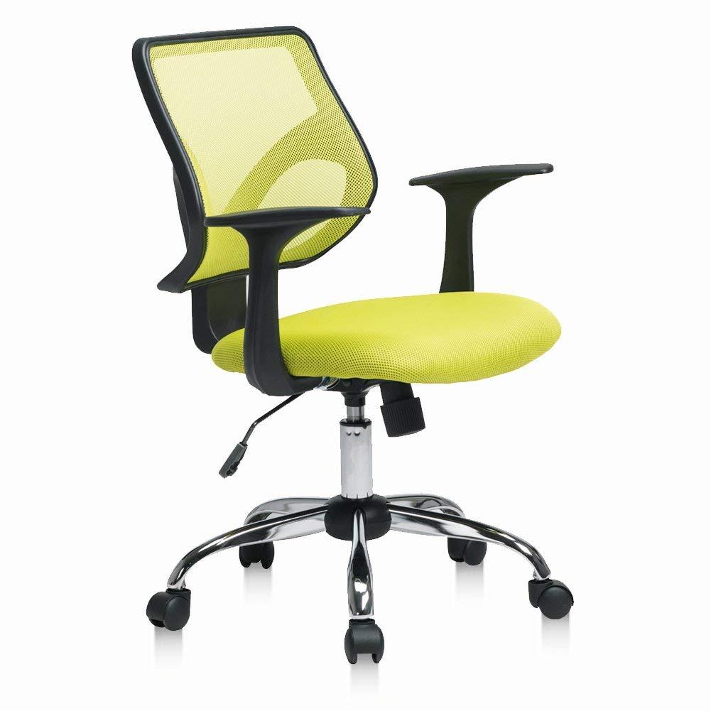 Pto Furniture Mesh Office Chair Ergonomic Task Office Chair Swivel Computer Chair, Green (Green)