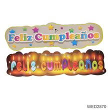 Newest Spanish Carton Happy Birthday Party Bunting Banner Supplies Design Decoration