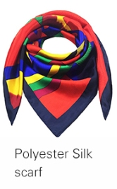 Top quality hand printed women square silk scarf