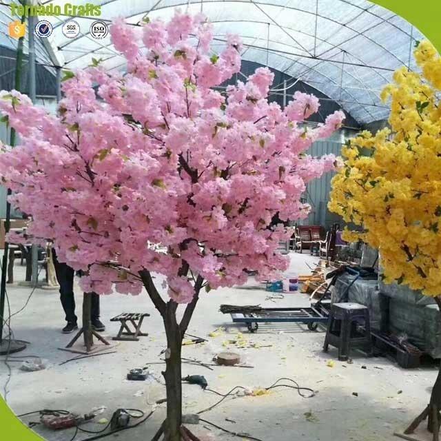 מלאכותי באיכות גבוהה עץ פריחת דובדבן עץ טבעי עץ תא מטען לקישוט החתונה