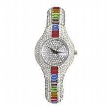 Женские часы MISSFOX, противоударные, водонепроницаемые, металлические, со стразами, 30 мм(Китай)