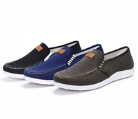 New design factory wholesale custom casual fashion lazy person canvas soft sole comfortable slip-On men canvas shoes