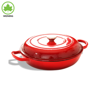 Cast Iron Round Shallow Casserole, Soup & Stock Pot